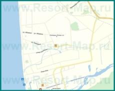 Подробная карта поселка Алахадзы с улицами