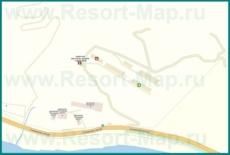 Подробная карта поселка Багрипш