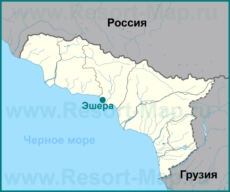 Эшера на карте Абхазии