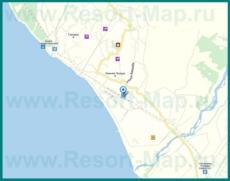 Подробная карта поселка Эшера