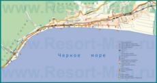 Карта побережья Новой и Старой Гагры