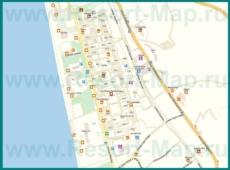 Подробная карта Гагры с улицами и номерами домов