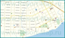 Подробная карта города Гудаута с улицами
