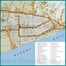 Туристическая карта Гудауты с достопримечательностями