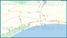 Подробная карта поселка Лдзаа с улицами