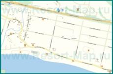 Подробная карта поселка Леселидзе