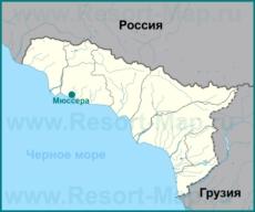 Мюссера на карте Абхазии