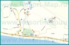 Подробная карта города Новый Афон с улицами