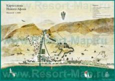 Туристическая карта Нового Афона с достопримечательностями