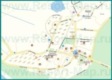 Подробная карта города Пицунда с улицами и номерами домов