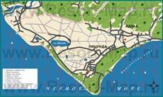 Туристическая карта побережья Пицунды