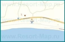 Подробная карта поселка Приморское