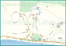 Подробная карта поселка Псырцха