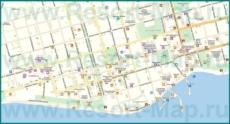 Подробная карта города Сухум с улицами