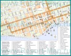 Туристическая карта центра Сухума