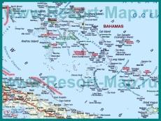 Туристическая карта Багамских островов