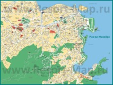 Карта города Рио-де-Жанейро