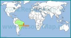 Город Салвадор на карте мира