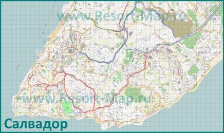Подробная карта города Салвадор