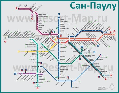 Карта-схема метро Сан-Паулу