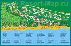 Карта отелей Албены