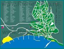 Подробная карта Балчика с отелями