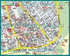 Карта Бургаса с достопримечательностями