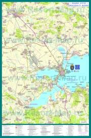 Подробная карта города Бургас с окрестностями