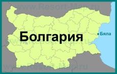 Бяла на карте Болгарии