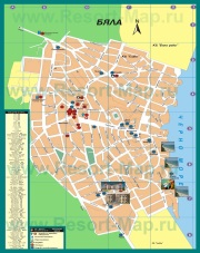 Подробная карта города-курорта Бяла