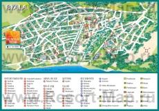 Туристическая карта отелей Бялы