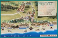 Карта отелей Елените