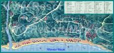 Подробная туристическая карта курорта Камчия
