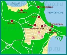 Карта отелей Китена