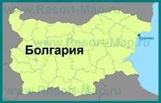 Кранево на карте Болгарии