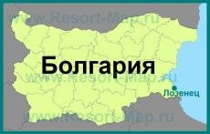Лозенец на карте Болгарии