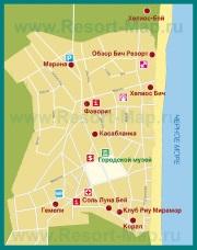 Карта отелей Обзора