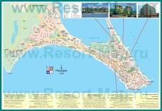 Карта Поморие с отелями