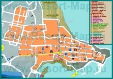 Карта отелей города Приморско