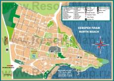 Подробная туристическая карта Приморско