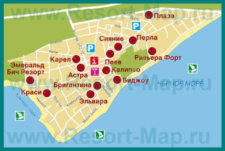 Карта отелей Равды