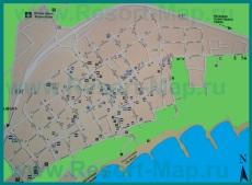 Подробная карта Сарафово с отелями