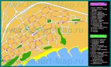 Туристическая карта курорта Сарафово
