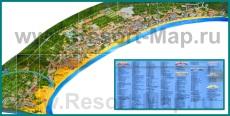 Туристическая карта Солнечного берега с отелями
