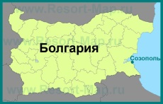 Созополь на карте Болгарии