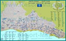 Подробная карта курорта Святой Влас