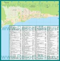 Туристическая карта Святого Власа с отелями