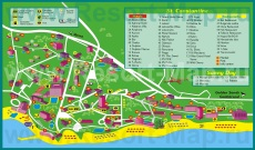 Подробная карта курорта Святой Константин и Елена с отелями