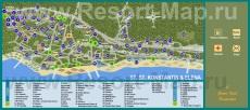 Туристическая карта отелей курорта Святой Константин и Елена