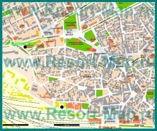 Карта Варны с достопримечательностями